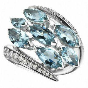 Beautiful Aquamarine .925 Sterling Silver Ring
